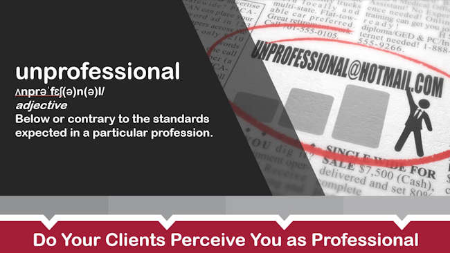 Do Your Clients Perceive You As Professional?